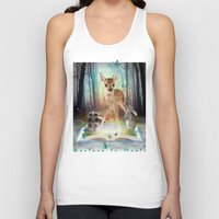 roald dahl Tank Tops featuring Believe In Magic • (Bambi Forest Friends Come to Life) by soaring anchor designs