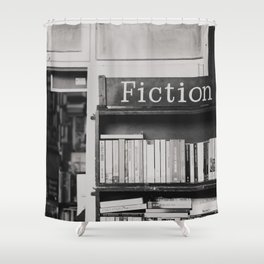 getting lost in a book store Shower Curtain