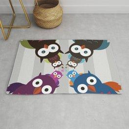 Owl Crowd Rug