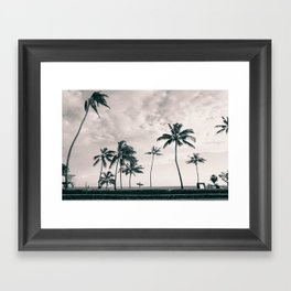 Hawaii Surf Commute Framed Art Print