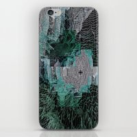 grid iPhone & iPod Skins featuring Grid by Leanne Miller
