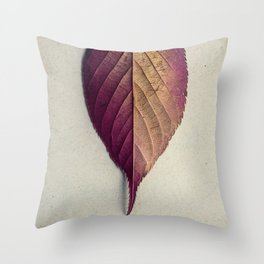 Lonely Leaf Throw Pillow