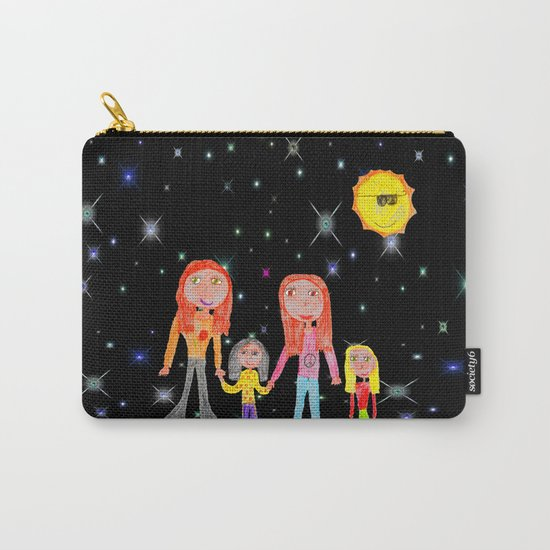 Space Hippie Girls | Kids Painting Carry-All Pouch