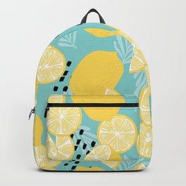 Lemon Pattern 06 Backpack