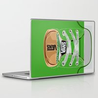 vans Laptop & iPad Skins featuring Cute Green Vans all star baby shoes apple iPhone 4 4s 5 5s 5c, ipod, ipad, pillow case and tshirt by Three Second