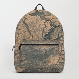 Topographic Map Design- Melting Grey Peach  Backpack