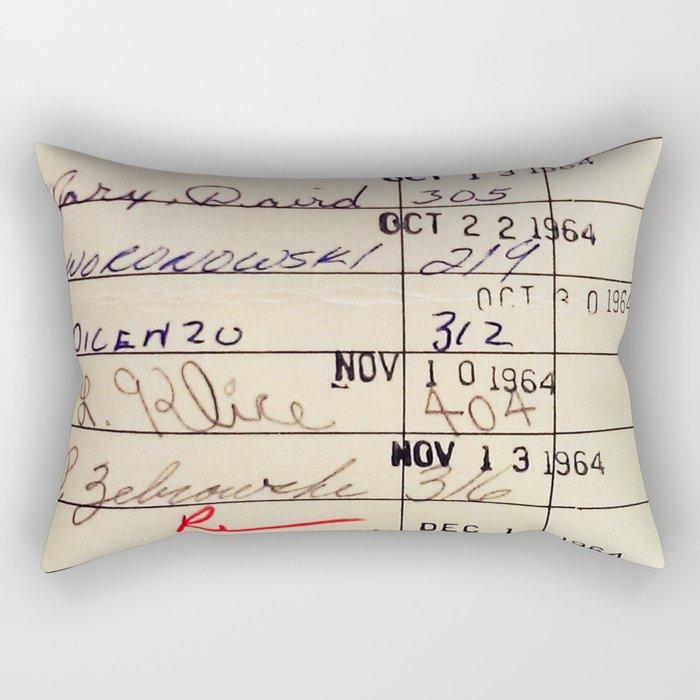 Library Card 23322 Rechteckiges Kissen