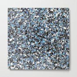 Terrazzo: Blue Metal Print