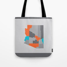 Arizona State Map Print Tote Bag