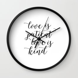 LOVE FAMILY SIGN, Love Is Patient Love Is Kind,Love Quote,Love Art,Family Quote,Living Room Decor,Ho Wall Clock