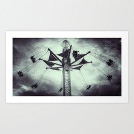 Swings at the Fair Art Print