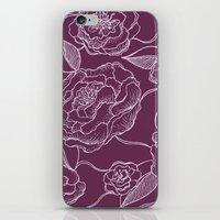 floral pattern iPhone & iPod Skins featuring Floral Pattern by Vickn