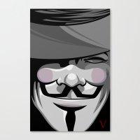 vendetta Canvas Prints featuring Vendetta by BiggStankDogg