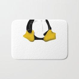 contra siting Linux tux penguin Bath Mat