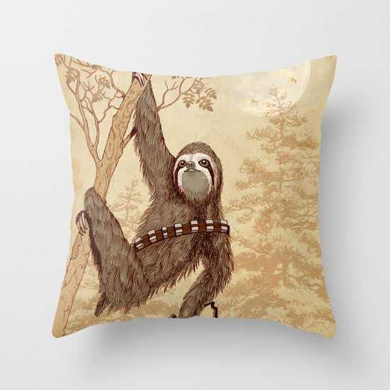 SlothWars Throw Pillow