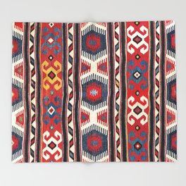 Kazak  Antique South West Caucasus Kilim Throw Blanket