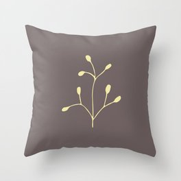 Coffee color brach Throw Pillow
