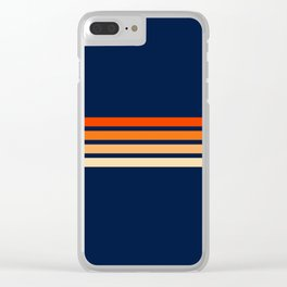 Retro 4 Thin Stripes Clear iPhone Case