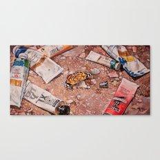 Paints Canvas Print