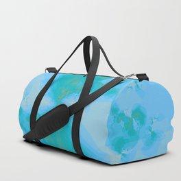 Shattered in Light Blue Duffle Bag