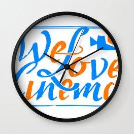 We Love Cinema Wall Clock