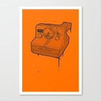 polaroid Canvas Prints featuring polaroid by TMSYO