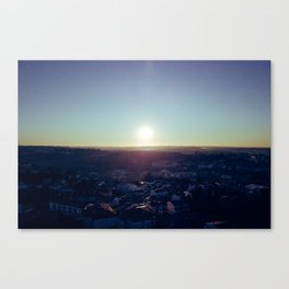 Sunset from the sky Canvas Print