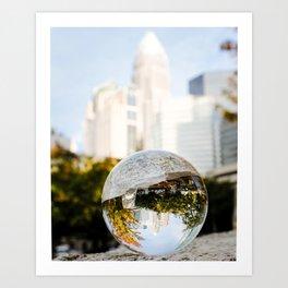 Charlotte, North Carolina Skyline Art Print