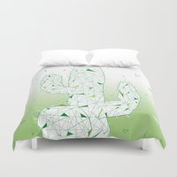 cactus Duvet Covers featuring Cactus by ARCHIGRAF