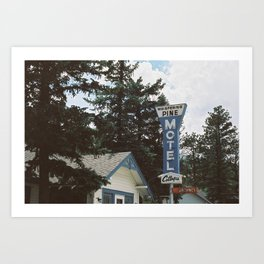 Colorado Motel (35mm Film) Art Print