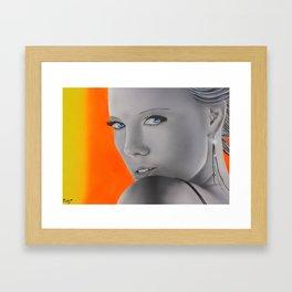 Charlize Theron Framed Art Print