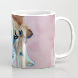 A Dog in Pink Portrait Coffee Mug
