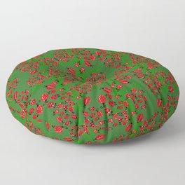 Ladybug in green Floor Pillow