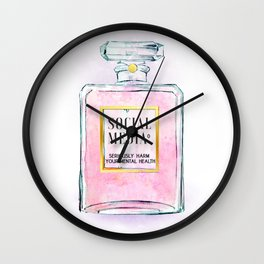 Eau de Social Media Seriously Harm Your Mental Health Wall Clock