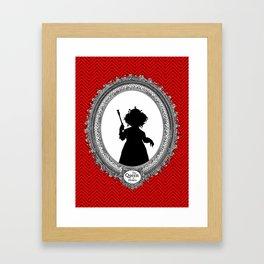 Alice's Adventures in Wonderland - Queen of Hearts Silhouette Framed Art Print