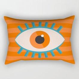Orange Eye Rectangular Pillow