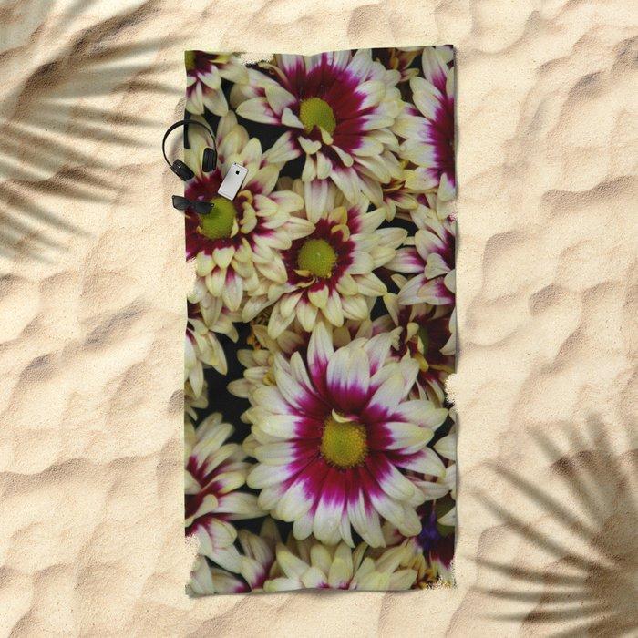 Multi color daisies! Beach Towel