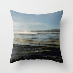 Natural spas Throw Pillow