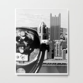 Viewing Pittsburgh Through the Looking Glass Metal Print