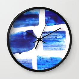 Kyanite jewel stones on white light surface Wall Clock