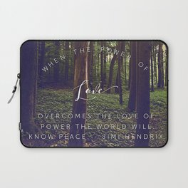 Peace and Love Laptop Sleeve