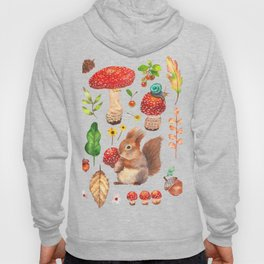 Red mushrooms and friends - GBG Hoody