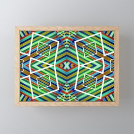 Colorful Geometric Tribal Abstract Pattern Style  Framed Mini Art Print