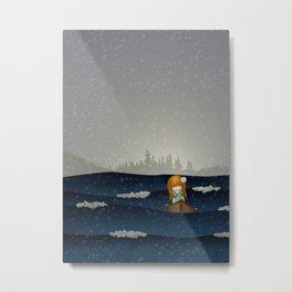 Cicily to The Sea Metal Print