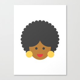 an afro american woman Canvas Print