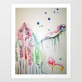 Sea Forrest Art Print