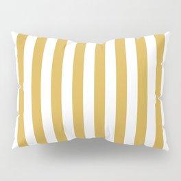 Large Mustard Yellow and White Cabana Tent Stripe Pillow Sham