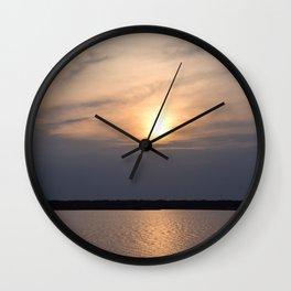 Sunrise at Lake Murray Wall Clock