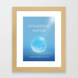 Water Conservation Poster Framed Art Print