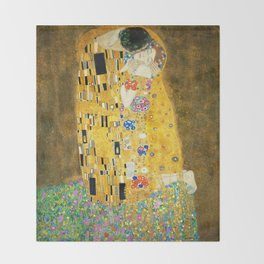 Gustav Klimt The Kiss Throw Blanket
